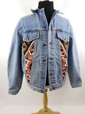 Vintage Denim Jacket Embellished Nomadic Collection Tapestry Size Medium