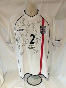 SIGNED ENGLAND U21 No.2 SHIRT v ITALY : 11.2.2003 (in CARRARA, ITALY)