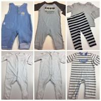 Baby Boys Size 0 Lot Bear Basics BeBe Target Dymples Newborn Wondersuit #B252