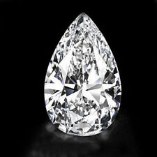 UNHEATED 30.09ct White Zirconia CZ Pear Cut Loose Gemstone Jewelry 18x25MM