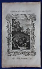 Original antique print CHRIST FEEDING THE MULTITUDE, Dr. Southwell's Bible, 1774