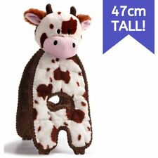 Charming Pet Cuddle Tugs Plush Dog Toy with K9 Tough Guard - Cow