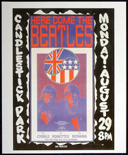 THE BEATLES POSTER PAGE 1966 CANDLESTICK PARK 29 AUG CONCERT POSTER . LENNON .F8