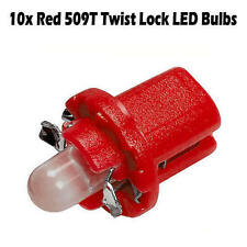10 x Red 509T / T5 Twist / B8.5T Twist-Lock LED Dash / Dashboard Speedo Bulbs