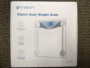 Brand New Etekcity Digital Body Weight Bathroom Scale Sliver