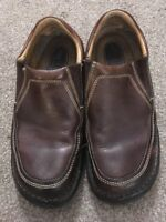 Mens Born Slip On Brown Loafers, Size 9 EUR 42.5