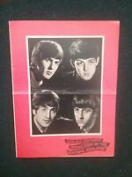 OLD BEATLES CONCERT PROGRAMME , THE BLACKPOOL OPERA HOUSE , REPRODUCTION