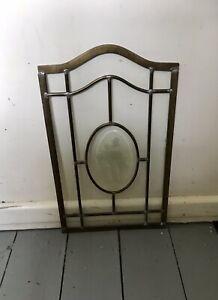 victorian Brass Etched Glass Door Pane/panel