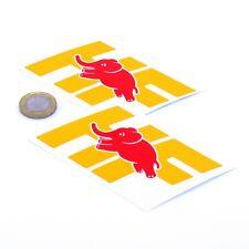 LANCIA DELTA INTEGRALE HF sticker decal vinile auto Classic 100mm x2 giallo & rosso