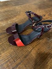 Rachel Comey Heels Red Burgundy Gorgeous Sandals Ankle Straps NY Deisgner Shoes