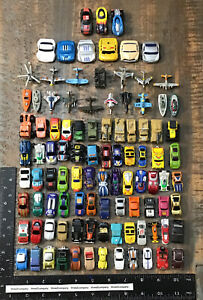 Lot of 100 Vtg Micro Machines Cars Trucks Airplanes Boats Military