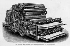 BULLOCK PRINTING PRESSES IN MACHINERY HALL HOE PRINTING PRESS FOLDING MACHINE