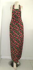LILLY PULITZER LIZA HALTER WRAP SKIRT DRESS FLORAL CORDUROY COTTON EARLY 1970's