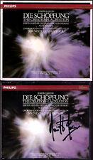 Neville MARRINER Signed HAYDN Die Schöpfung Creation 2CD Mathis Fischer-Dieskau