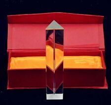 "4"" Optical Glass Triangular Prism Physics Teaching Light Spectrum 10cm"