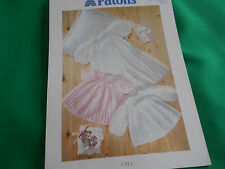 Baby's christening robe,dress and matinee coat size 18 ins knitting pattern