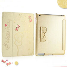New Cute Hello Kitty Smart Cover Leather Stand Case For iPad mini