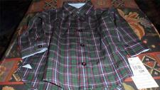 Hartstrings Boy Baby 12 month NWT Plaid long sleeve dress shirt