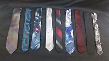 Lot of 9 Skinny Ties Various Styles / Designs