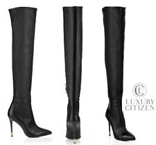 $1990 NEW AUTHENTIC TOM FORD Pure Line OTK Over the Knee High Heel Boots 37 7 NR