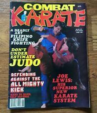 Combat Karate Magazine 1987 Joe Lewis Michael DePasquale Judo Karaté Arnis