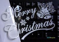 BELLS SNOWFLAKES CHRISTMAS STICKER GIFT HOME WINDOW DECORATION REUSABLE Xmas +