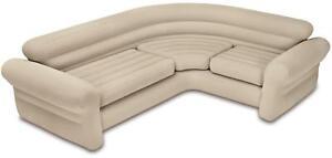 Intex Corner Sofa aufblasbare Couch, 257x203x76cm