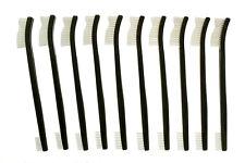 "New 10pc 7"" Double Ended Gun Cleaning Brush  Plastic Handle Set - Nylon Bristles"