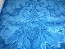Vtg 2 Tone Blue Plush Sculpted Hand Towel No Tag