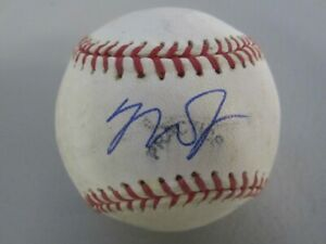 Angels #27 MIKE TROUT Signed Autographed Pratice Used Baseball 3x MVp