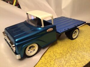 PRESSED STEEL TONKA FLAT BED TOY TRUCK  LOWERED AND REFINSHED. L@@K!