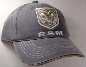 Hat Cap Licensed Dodge Ram Realtree Edge Camo Charcoal Grey OC