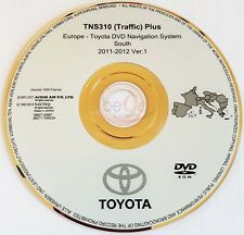 TOYOTA LEXUS Navigazione DVD ORIGINALE tns310 2011-2012 Sud Europa South Europe