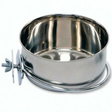20 oz Coop Cup Stainless Steel Bolt On Dish for Parrots, Pets, Home Travel Cage