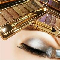 9 Colors Makeup Shimmer Diamond Eyeshadow Eye Shadow Palette Cosmetic Brush Kit