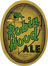 ROBIN HOOD BEER LABEL T SHIRT MONTEREY BREW LOS ANGELES CA SMALL-XXXLARGE (F)