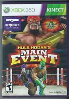 Hulk Hogan's Main Event (Microsoft Xbox 360, 2011) (Complete w/ Manual) 💝💝