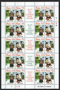 Nauru - Christmas 1995 - MNH Sheet