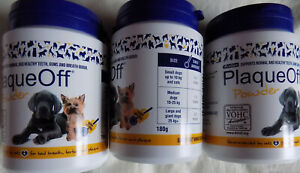 4 XProDen PlaqueOff Powder 180 g | For Dogs and Cats |Bad Breath, Plaque, Tartar