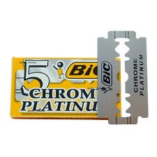 LAME DA BARBA BIC CONFEZIONE 5 PZ CHROME PLATINUM ALTA QUALITA'