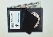 LAPD Los Angeles Police Oval Badge Wallet Bi-Fold Recessed Leather, Security