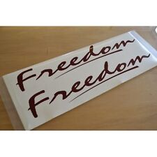 FREEDOM Caravan Name Stickers Decals Graphics - PAIR