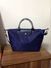 Clearance Longchamp Le Pliage Neo Medium Handbag Navy Blue 1515578556