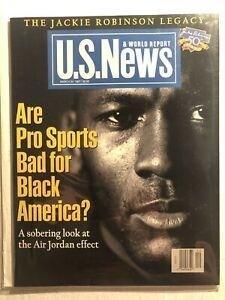 1997 US News CHICAGO BULLS Michael JORDAN NewsStand JACKIE ROBINSON 50th LEGACY