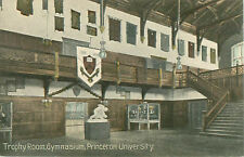 Trophy Room Gymnasium Princeton University Blank Postcard Printed in Germany