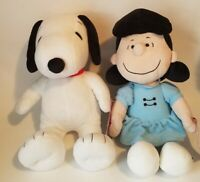 """NEW Lot Of 2 Peanuts Kohl's Cares 14"""" Plush Snoopy & Lucy *NEW WITH TAGS*"""