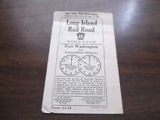 SEPTEMBER 1939 LIRR LONG ISLAND RAIL ROAD PORT WASHINGTON PUBLIC TIMETABLE