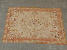 Old Hand Made French Aubusson Design Original Wool Needle Point 175X114cm (S2)