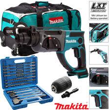 Makita DHR202Z 18V Inalámbrico rotativo martillo perforador SDS + + 17 un. Acc & Chuck & Bolsa