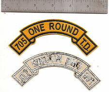 #344 US ARMY 705 TANK DESTROYER TAB ONE ROUND PATCH